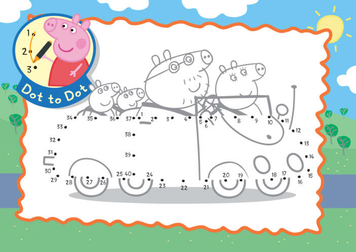 Thumbnail image for the Peppa Pig Dot to Dot activity.