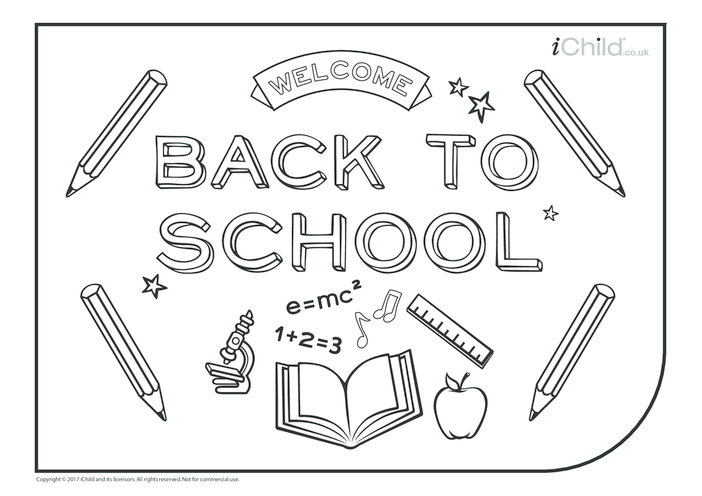Thumbnail image for the Back to School Poster activity.