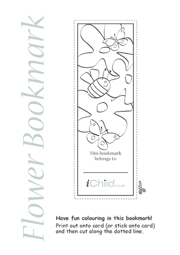 Thumbnail image for the Flower Bookmark activity.