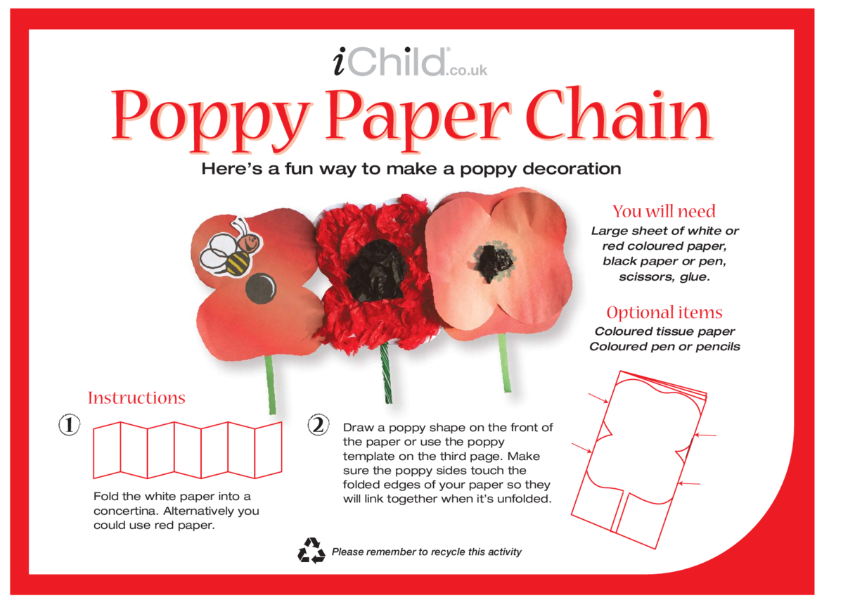 Poppy Paper Chain