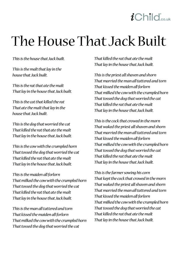 The House That Jack Built Lyrics