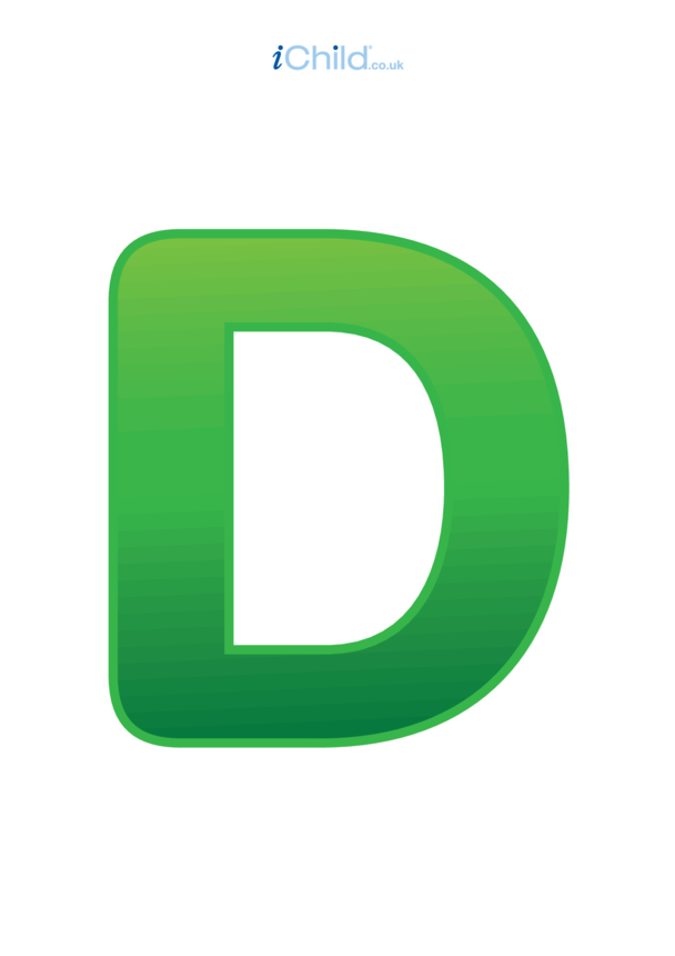 D: Poster of the Letter 'D'