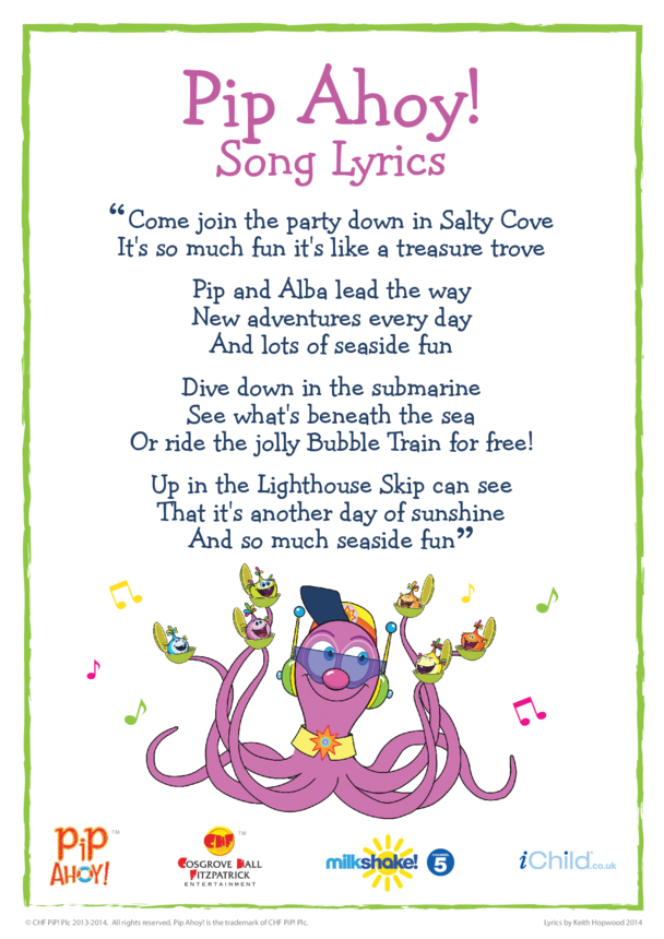 Pip Ahoy! Song Lyrics