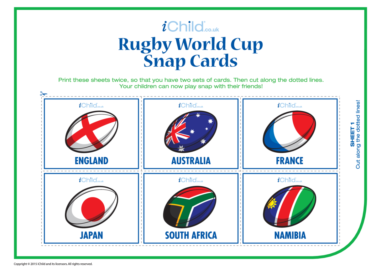 Rugby Snap Cards