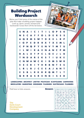 Thumbnail image for the Earls Court Activity: Wordsearch activity.