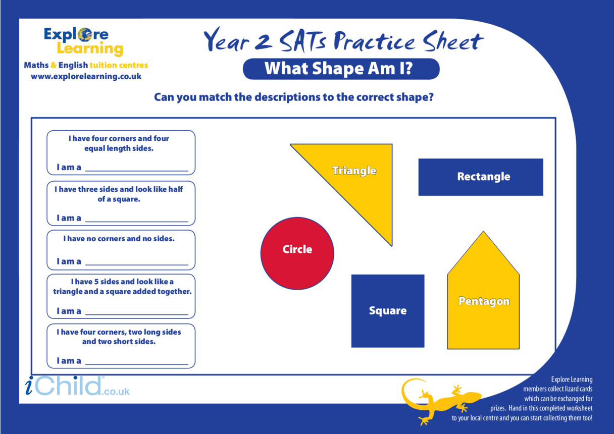 SATS Practice Paper Year 2: What Shape am I?