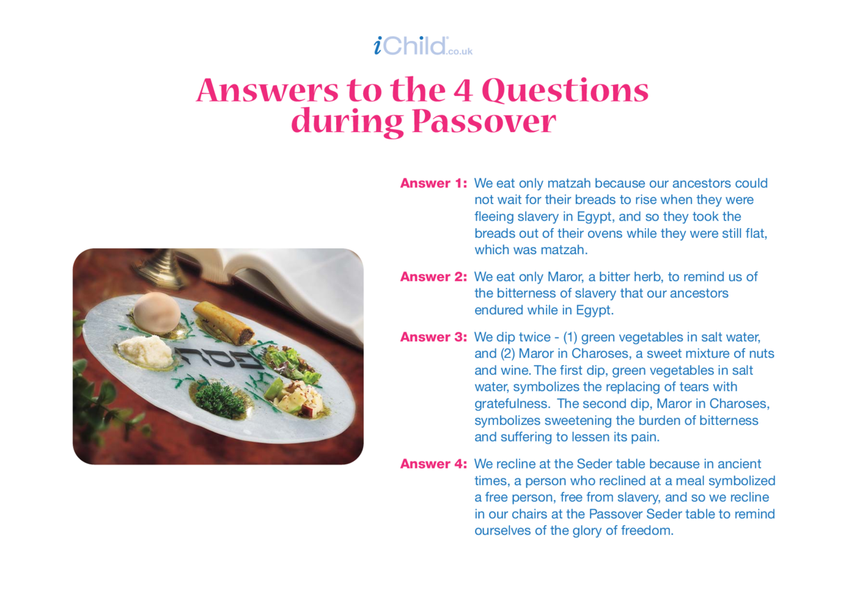 Answer to the 4 Passover Q's