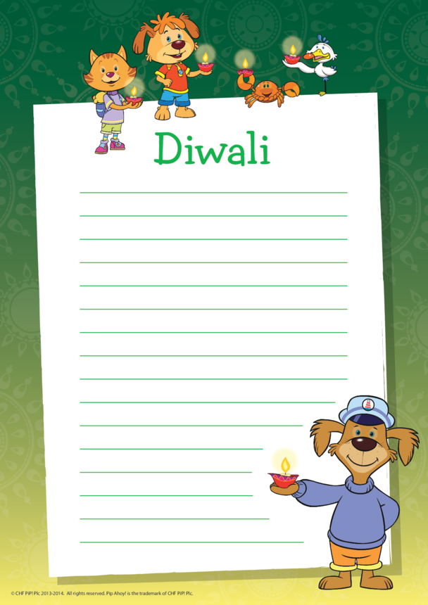 Diwali Writing Paper (Pip Ahoy!)