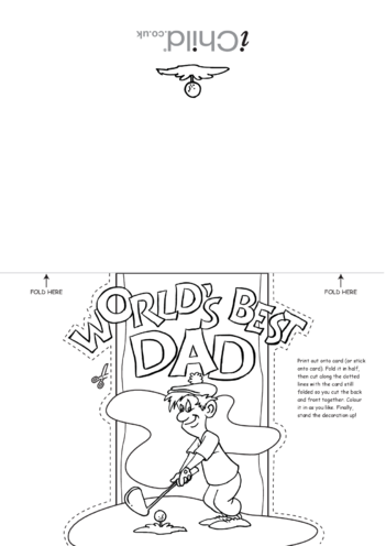 Thumbnail image for the Father's Day Card Craft activity.