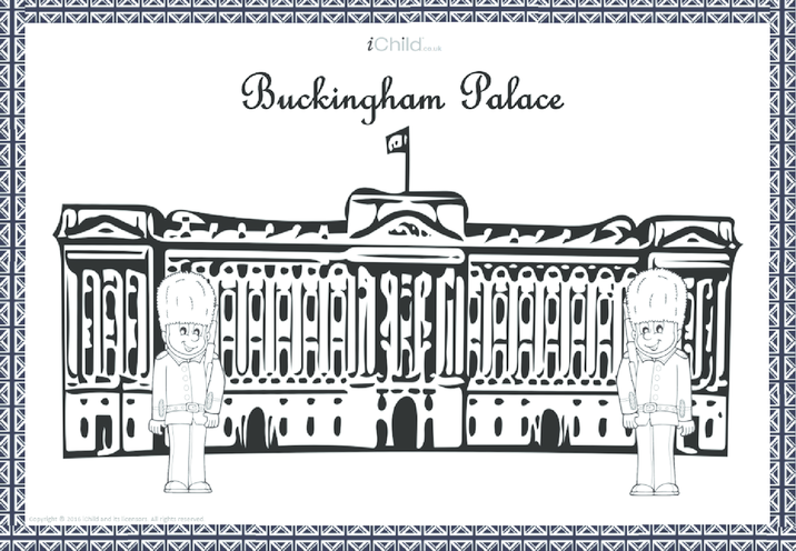 Thumbnail image for the Buckingham Palace Colouring in Picture activity.