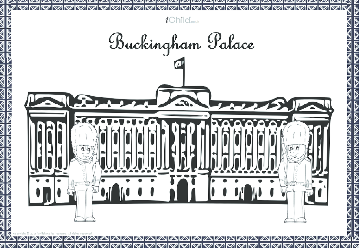 Buckingham Palace Colouring in Picture