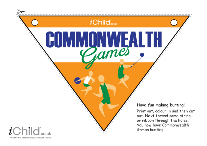 Thumbnail image for the Commonwealth Games Bunting activity.