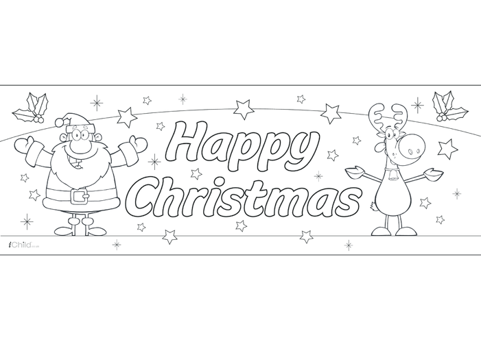 Thumbnail image for the A3 Christmas Banner activity.