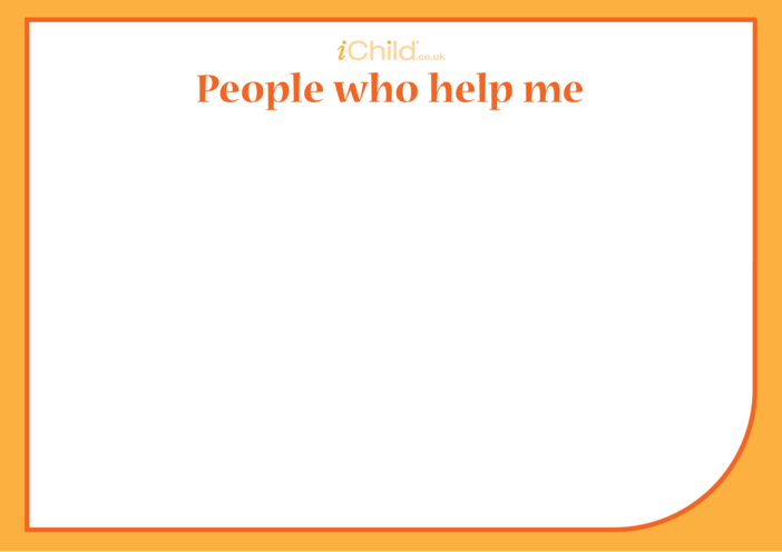 Thumbnail image for the 'People Who Help Me' Blank Drawing Template activity.