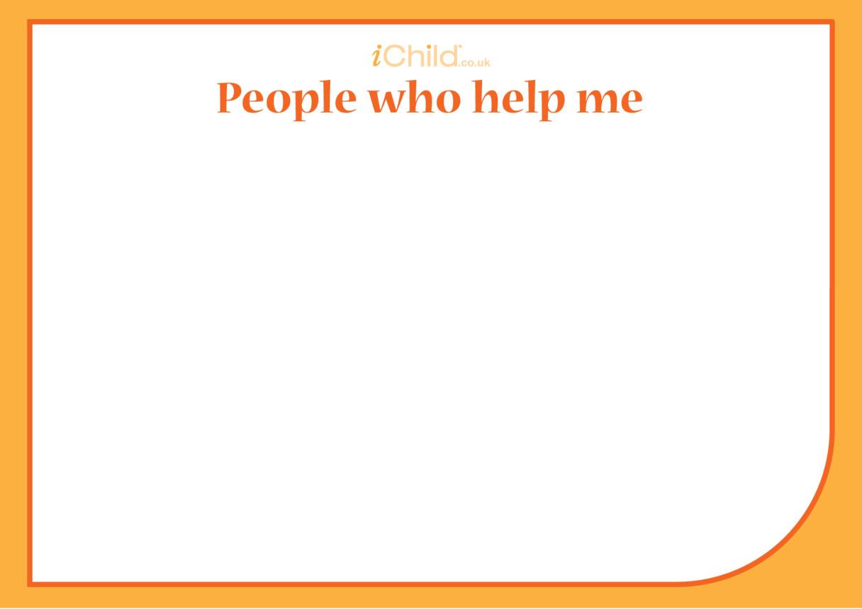 'People Who Help Me' Blank Drawing Template