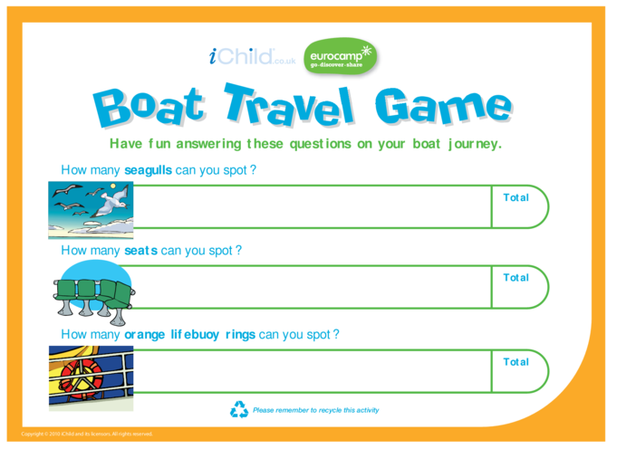 Thumbnail image for the Boat Travel Game activity.