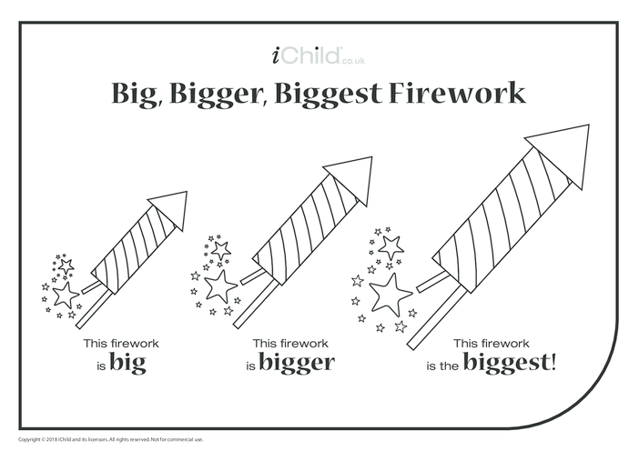Thumbnail image for the Big, Bigger, Biggest Firework activity.