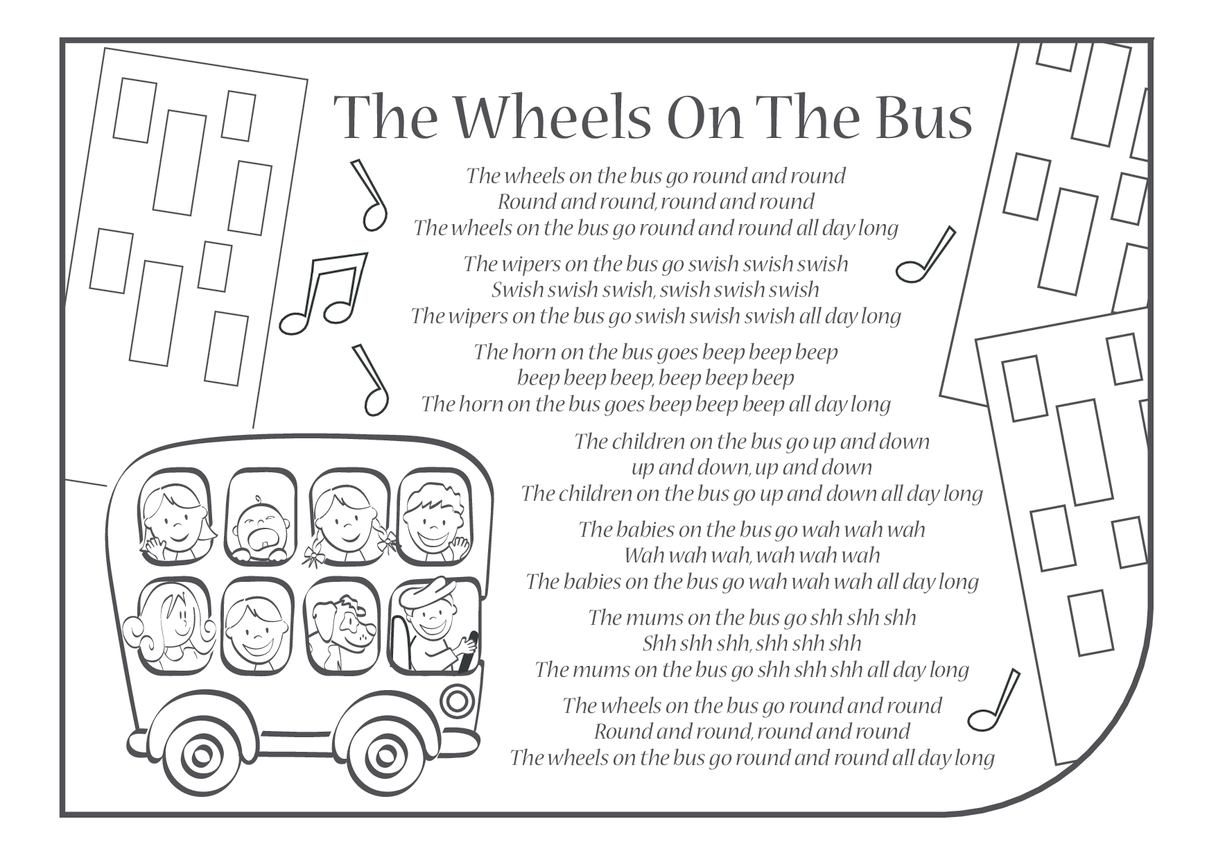 The Wheels on the Bus Lyrics