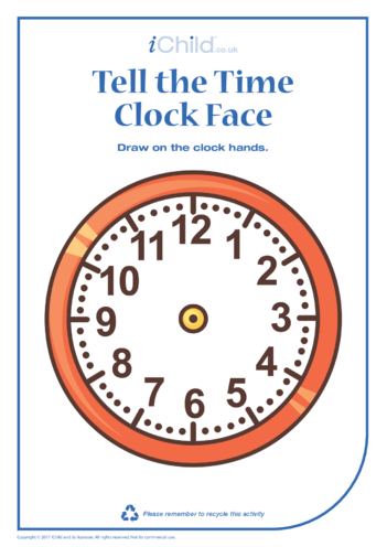 Thumbnail image for the Telling the Time Clock Face activity.