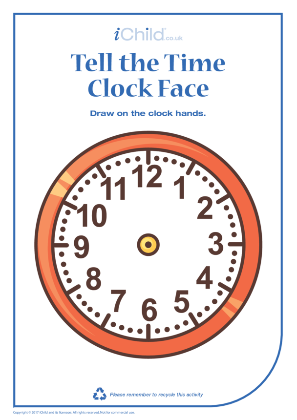 Telling the Time Clock Face