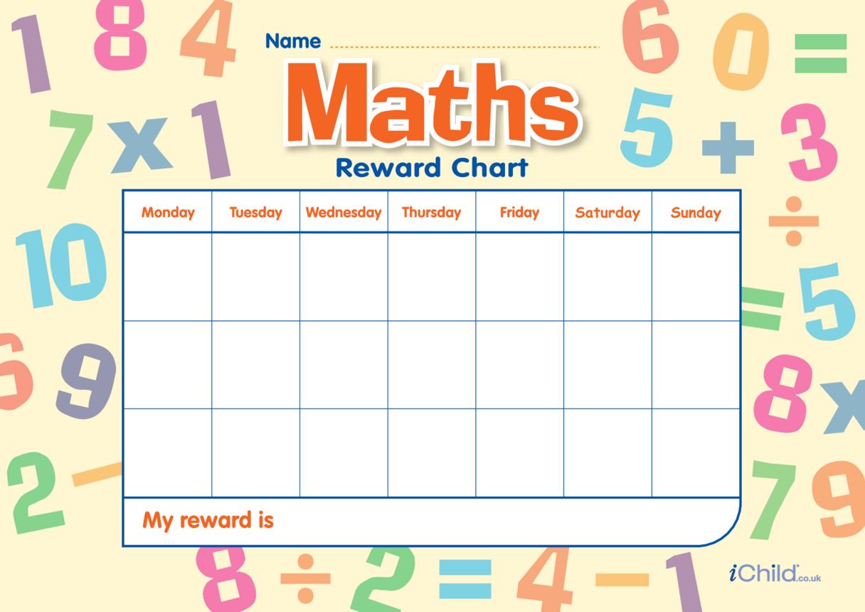 Maths Reward Chart