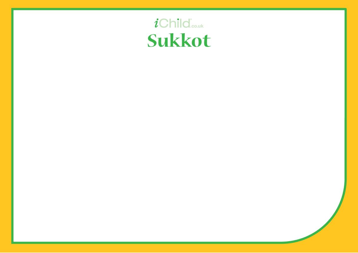 Sukkot Blank Drawing Template