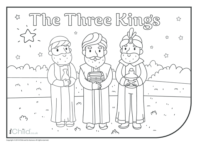 Thumbnail image for the The Three Kings Colouring in Picture activity.