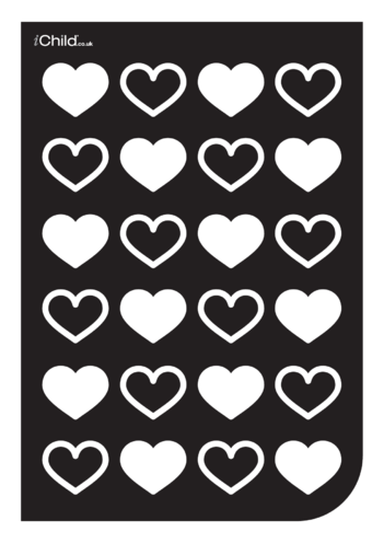 Thumbnail image for the Black & White Poster: Heart Pattern activity.