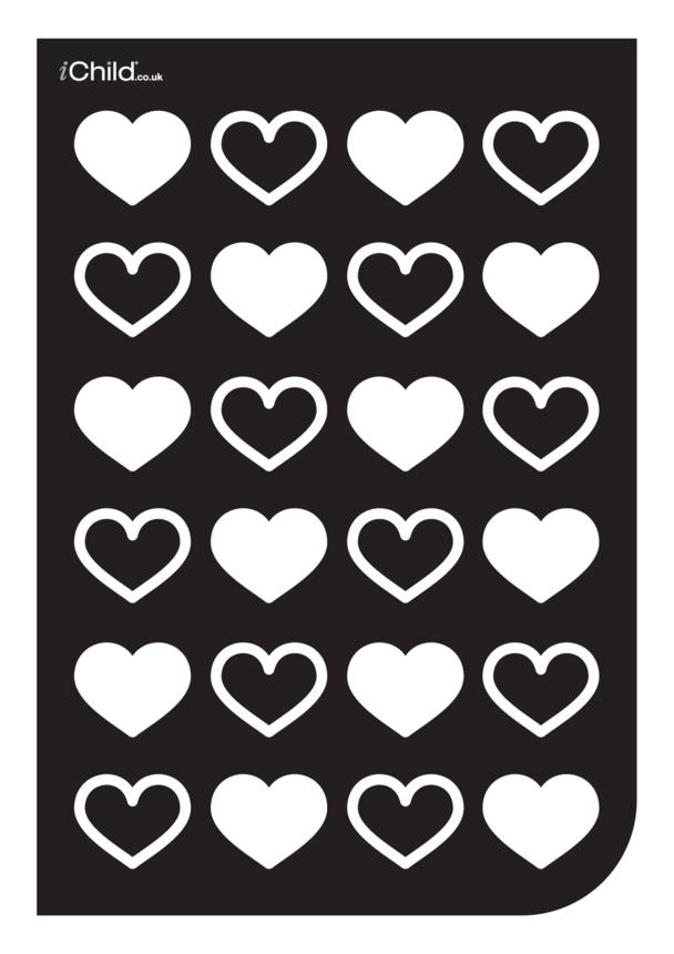 Black & White Poster: Heart Pattern