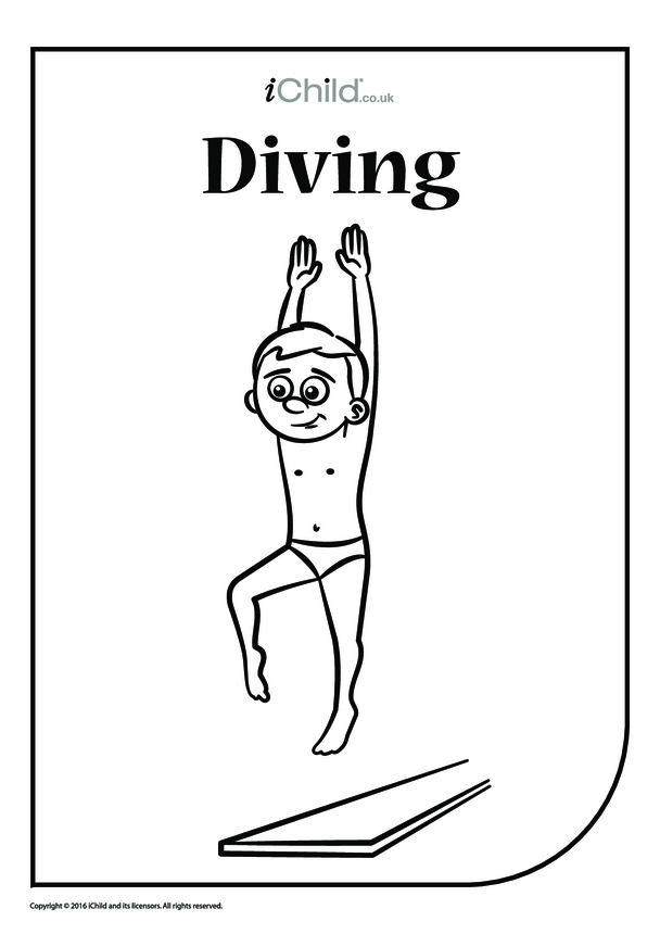 High Diver Colouring in Picture