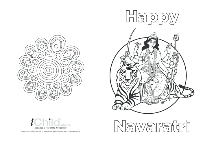 Thumbnail image for the Navaratri Greeting Card activity.