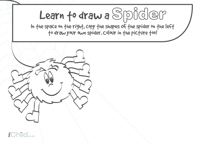 Thumbnail image for the Learn to Draw a Spider activity.