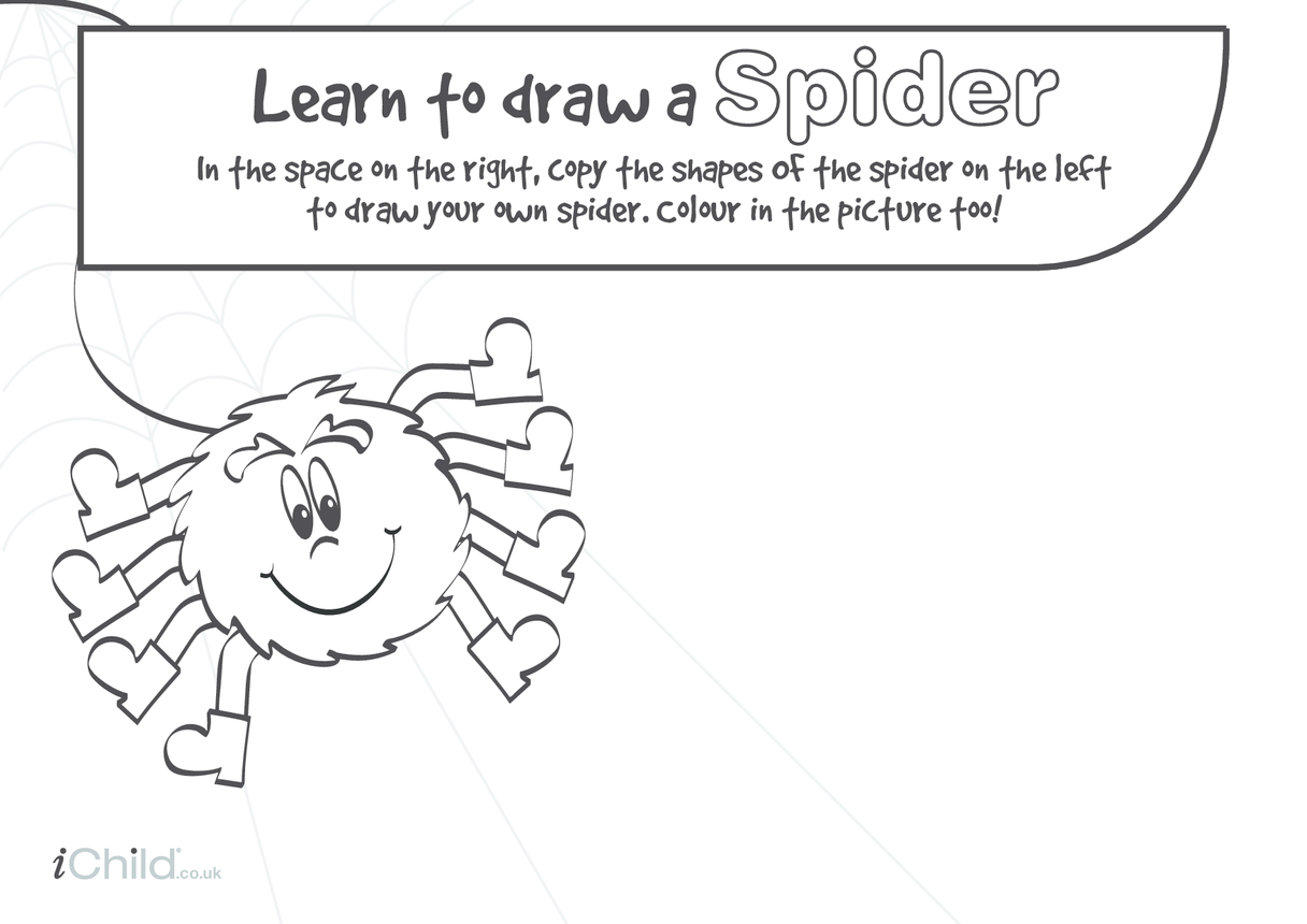 Learn to Draw a Spider