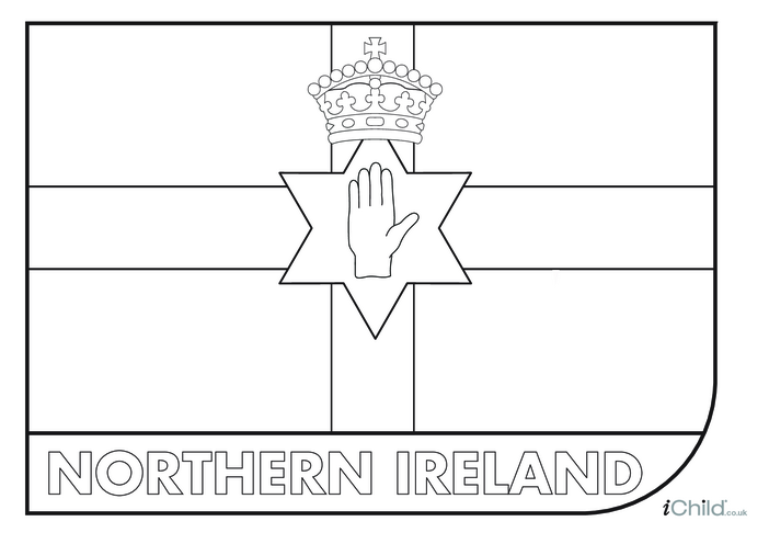 Thumbnail image for the Come on Northern Ireland! Flag Colouring in Picture activity.