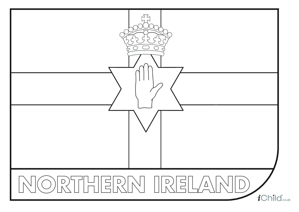 Come on Northern Ireland! Flag Colouring in Picture
