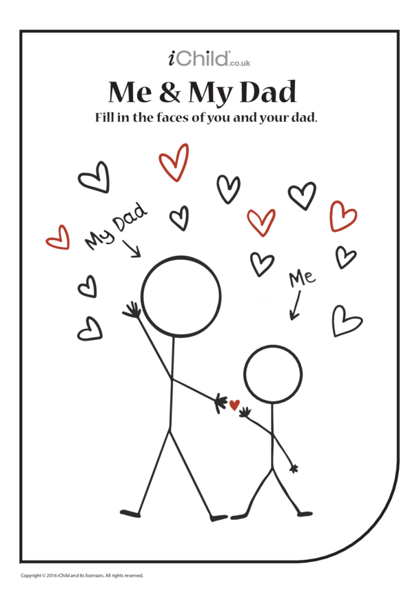 Me & My Dad ♥ - Colouring in Picture
