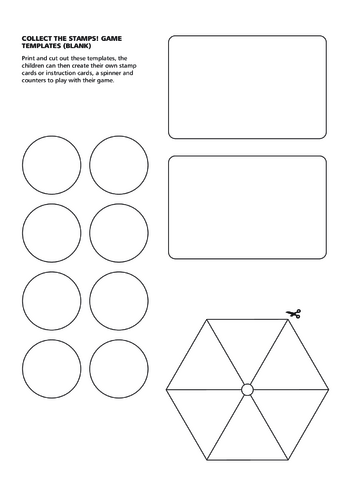 Thumbnail image for the 2013_Primary 5) Collect the Stamps! Blank Stamp Card Game Templates activity.