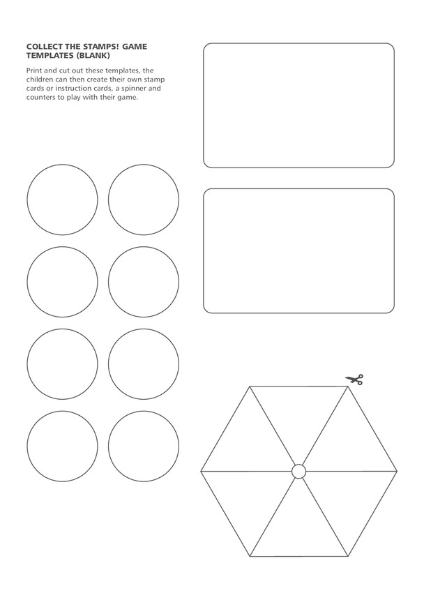 2013_Primary 5) Collect the Stamps! Blank Stamp Card Game Templates