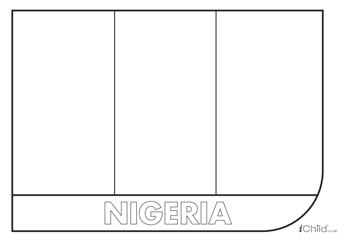 Nigeria Flag Colouring in Picture (flag of Nigeria)