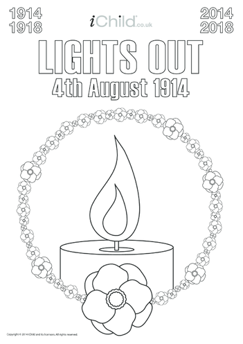 Thumbnail image for the First World War Centenary Lights Out Poster (B&W) activity.