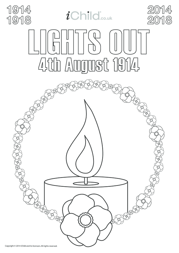 First World War Centenary Lights Out Poster (B&W)