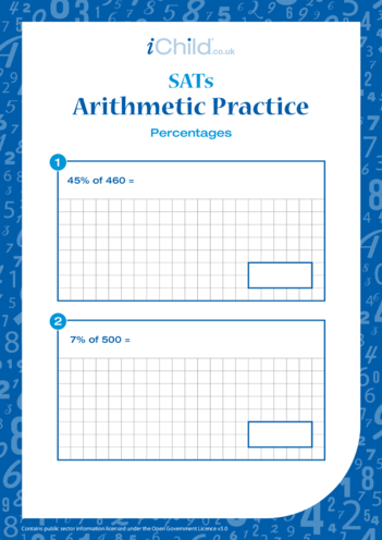 Thumbnail image for the Arithmetic Practice: Percentages activity.
