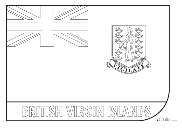 Thumbnail image for the British Virgin Islands Colouring in Picture (flag of the British Virgin Islands) activity.