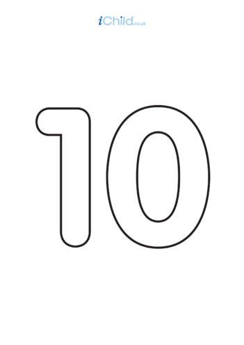 Thumbnail image for the 10: Poster - Number 10, Black & White activity.