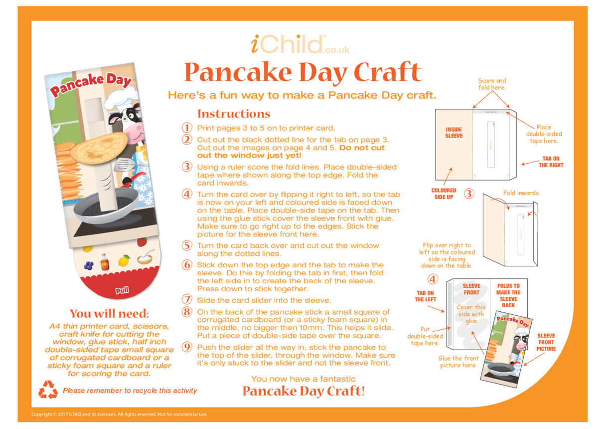 Pancake Day Craft