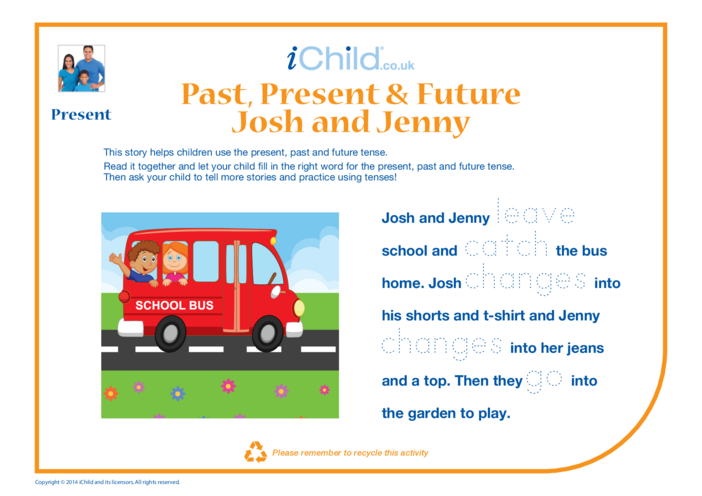 Thumbnail image for the Past, Present & Future Picture Story activity.
