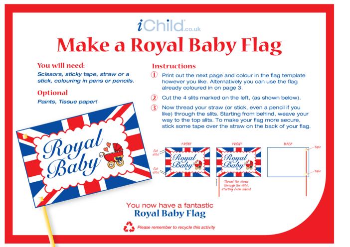 Thumbnail image for the Make a Royal Baby Flag Craft activity.