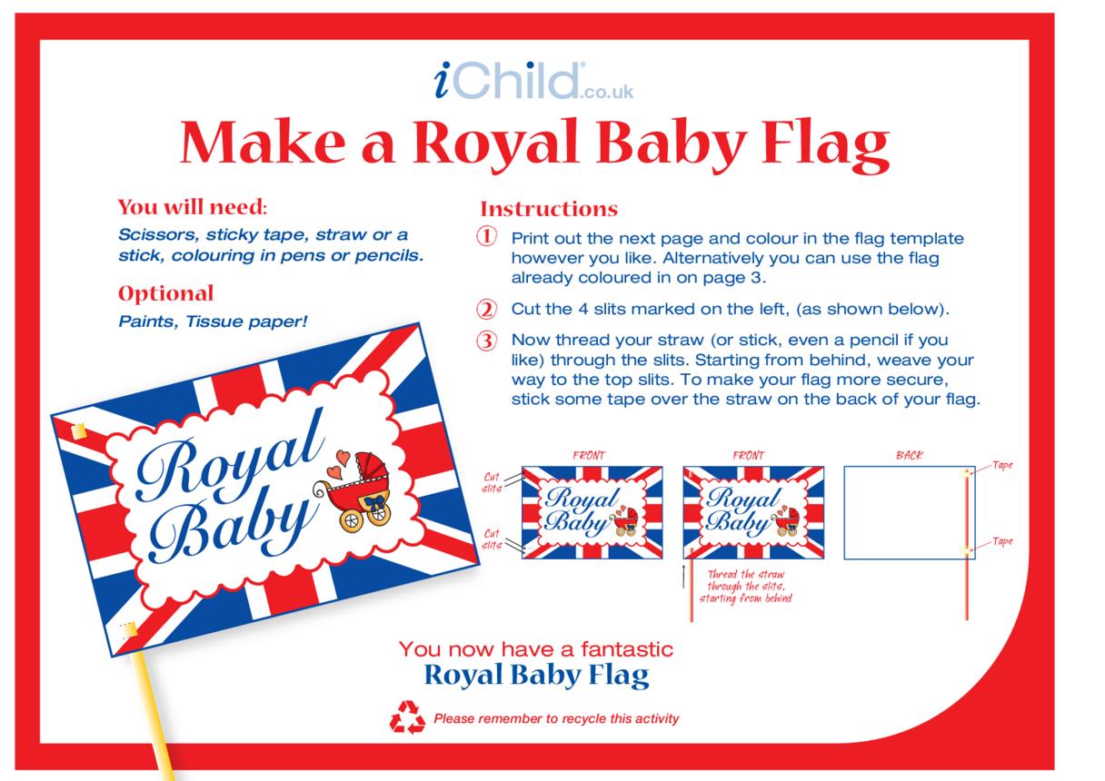 Make a Royal Baby Flag Craft