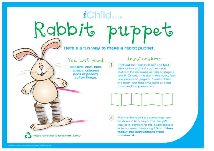 Thumbnail image for the Chinese New Year Rabbit Craft Puppet activity.