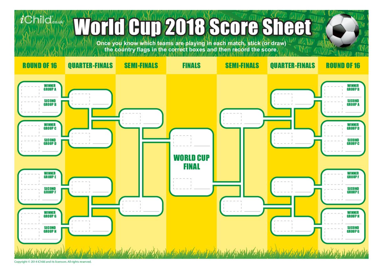 World Cup 2018 Score Sheet